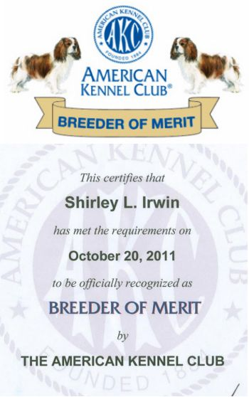 Breeder of Merit with badge